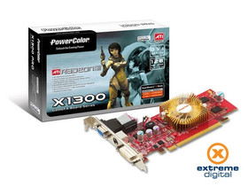 Card VGA PowerColor ATI Radeon X1300 128MB DDR PCI-EX
