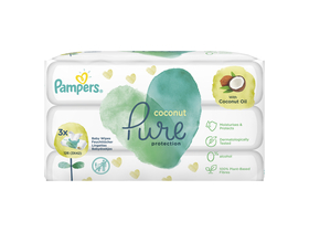 Pampers Coco Pure Protection törlőkendő, 3x42db