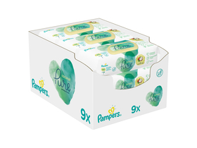 Pampers Coco Pure Protection törlőkendő, 9x42db, 378db