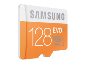 Samsung microSDXC карта 128GB EVO Class10, UHS-I Grade1 + SD adapter