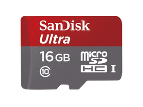 SanDisk Secure Digital Micro 16GB Ultra, Class 10 + SD adapter, Android Edition