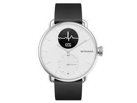 Withings Scanwatch 38 мм смарт часовник, бял
