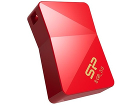 Silicon Power 8GB Jewel J08 USB 3.0 pendrive, piros