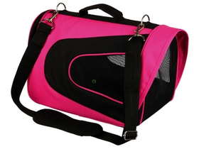 Geanta transport animale Trixie Alina nylon, 22×23×35cm, pink/black (TRX28966)