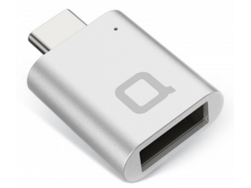 Nonda USB Type-C - USB 3.0 Type-A mini adapter, ezüst