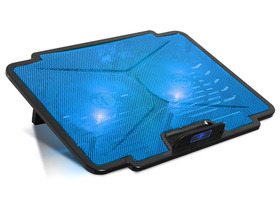 "Spirit of Gamer Notebook, pana la 15,6"" - AIRBLADE 100 Blue (25dB; max. 125,72 m3/h; 2x12cm, LED, 2xUSB2.0)"
