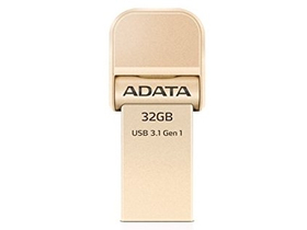 Adata i-Memory Flash Drive AI920, 32GB, USB 3.0, auriu