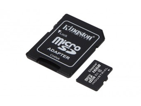 Kingston Industrial Temp 16GB microSDHC memóriakártya + SD adapter, Class 10, UHS-I, U1 (SDCIT/16GB)