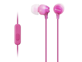 Headset Sony MDREX15APPI.CE7 Android/iPhone, pink