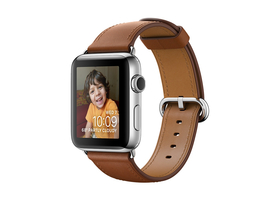 Apple Watch Series 2, 38mm Stainless Steel Case with Saddle Brown Classic Buckle (mnp72mp/a)