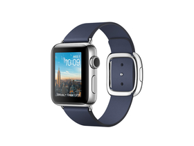 Apple Watch Series 2 Midnight Blue, curea cu catarama, marime L, 38mm (mnpa2mp/a)