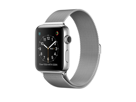 Apple Watch Series 2, 42mm Stainless Steel Case z Silver Milanese Loop (mnpu2mp/a)