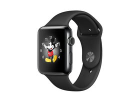 Apple Watch Series 2, Midnight Black, curea Midnight Black sport, 42 mm (mp4a2mp/a)