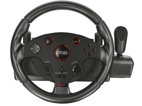 Trust GXT 288 Force Vibration Steering Wheel PC/PS3 gamer kormány + pedál