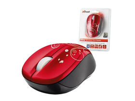 Mouse notebook Trust17355 Vivy wireless, roşu