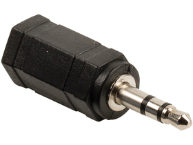 Valueline VLAB22930B audioadapter 3,5 mm dugasz, 2,5 mm aljzat, fekete