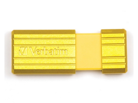 Verbatim 8 GB Pin Stripe pendrive, žlutá