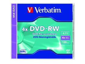 Verbatim DVD-RW 4,7 GB, 4x, toc normal