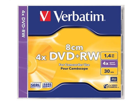 Verbatim DVD+RW 8 cm, 1,4 GB, 4x, toc normal