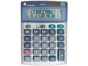 Calculator de birou Victoria, 12 digit, baterie + solar
