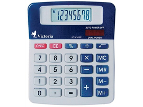 Calculator de birou Victoria, 8 digit, baterie + solar