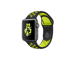 Apple Watch Nike+space gray, 38mm, curea negru-verde neon Nike  (mp082mp/a)