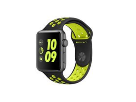 Apple Watch Nike+ space gray, 42mm, curea verde neon Nike (mp0a2mp/a)
