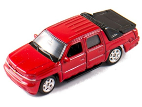 Welly Chevrolet Avalanche 2002 červený model auta, 1:60-64