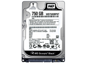 Western Digital WD75000BPKX Black Scorpion 750GB SATAIII notebook őevny disk