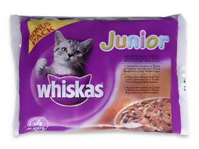 Whiskas mokra hrana za mačke, 100g, junior, 4pack
