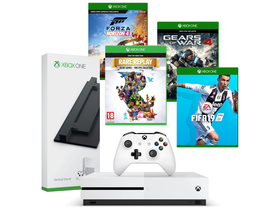 Consola Microsoft Xbox One S 1TB+ Forza Horizon 4 + Fifa 19 + Rare Replay + Gears Of War 4 +suport
