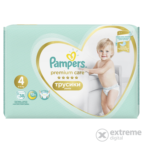 Pampers Premium Care Value Pack bugyipelenka 4-es méret, 38 db