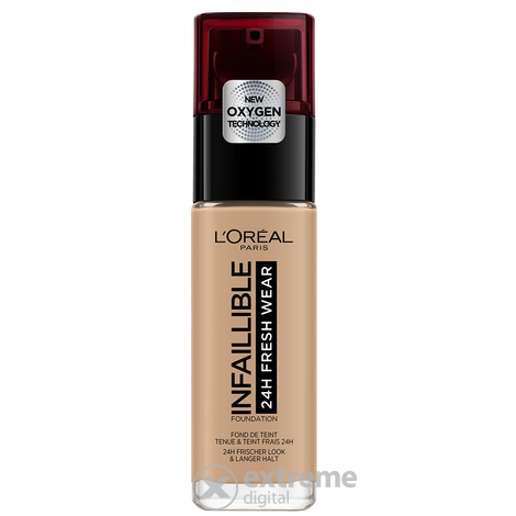 Fond de ten fluid L`Oréal Paris Infaillible 24H Fresh Wear 220 Sand , 30 ml