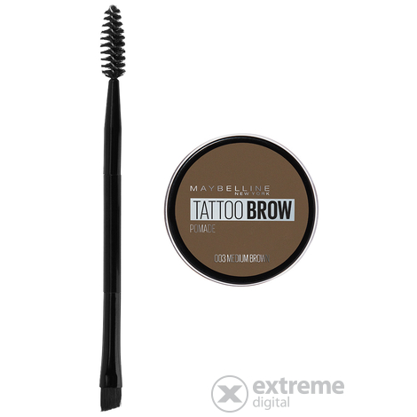 Maybelline Brow Tattoo Pomade géles szemöldökformázó krém, 03 Medium Brown