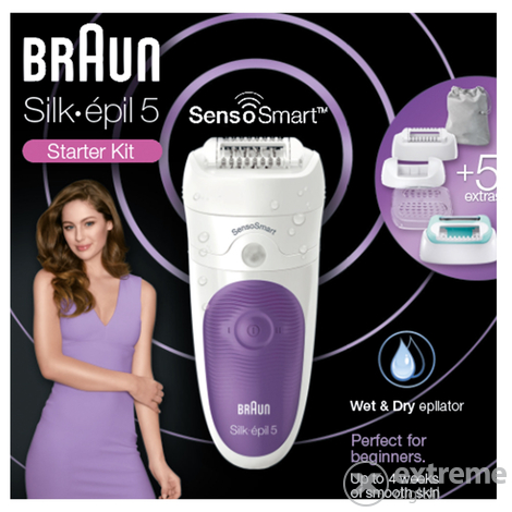 Braun SES 5 880 Silk-épil 5 SensoSmart Wet Dry epilátor szett ... 784ff5973b