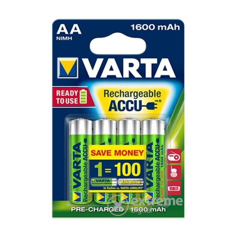 Varta AA 1600mAh Ready2Use batéria, 4 ks