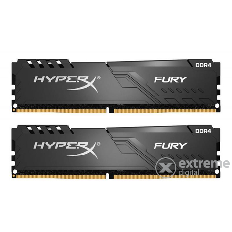 Kingston HX432C16FB3K2/8 HyperX Fury 8GB 3200MHz DDR4 CL16 DIMM memória modul, fekete, 2db