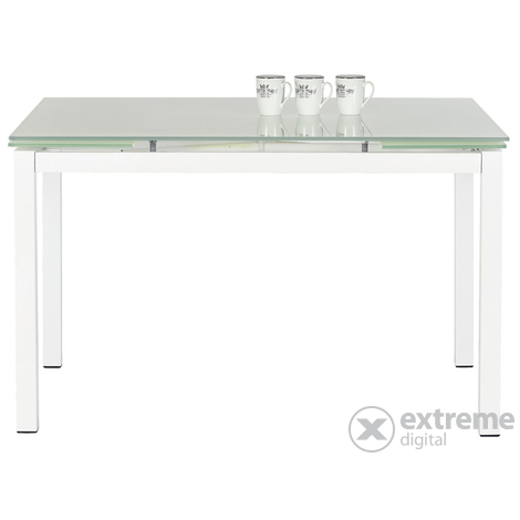 Tom 120-180x80cm-es kihúzható étkezőasztal, üveg (21469087 ...