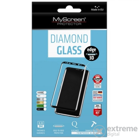 Myscreen DIAMOND GLASS edge 3D edzett üveg Apple iPhone 6/6S (4,7