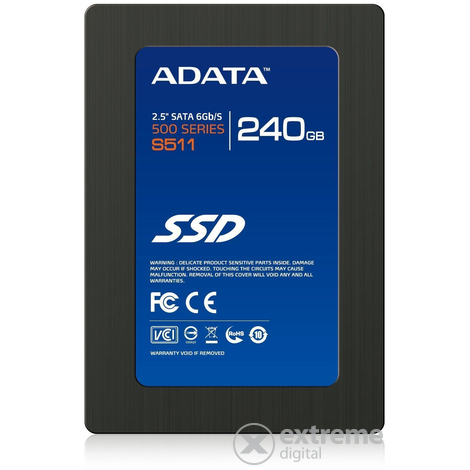 "Adata 240GB (AS511S3-240GM-C) SATA3 2,5"" SSD"