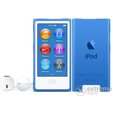 Apple iPod nano, син (mkn02hc/a)