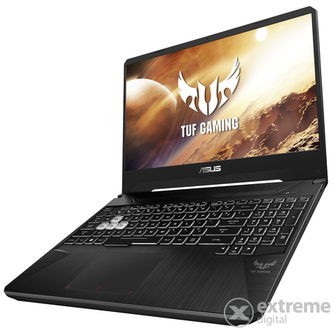 Asus TUF Gaming FX505DU-AL052 gamer notebook, fekete