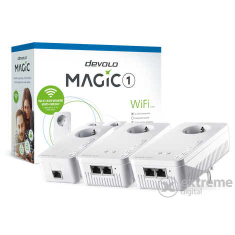 Devolo Magic 1 WiFi 2-1-3 Multiroom Kit hálózati adapter