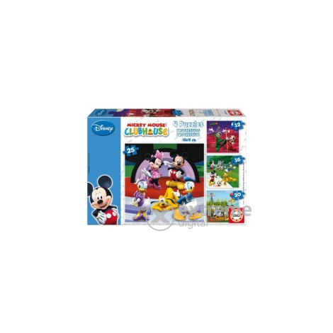 Educa Disney Mickey Mouse and Friends puzzle, 4 in 1