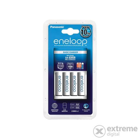 Eneloop Timer KKJ51MCC40E töltő + 4db 1900mAh AA előtöltött akkumulátor