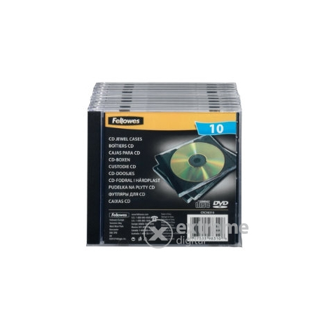 Fellowes 1 lemezes normál CD-tok normál, black (98310)