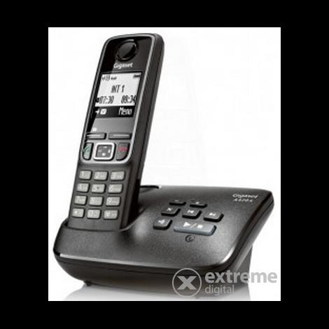 Gigaset A420A vezeték nélküli (DECT) telefon üzenetrögzítővel  fekete