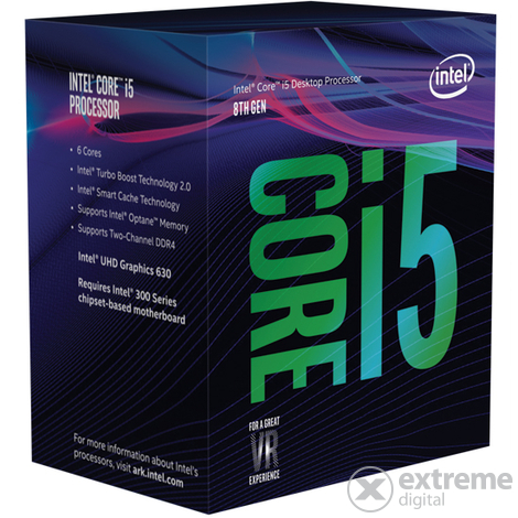 INTEL Core i5-8600K 3,6GHz 9MB LGA1151 BOX CPU - [Bontott]