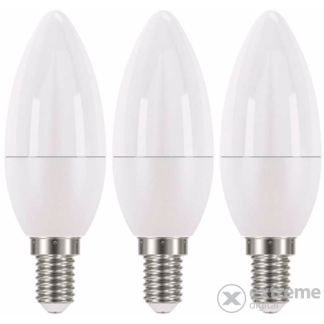 Emos LED izzó classic candle E14, 6W, NW, 3db (ZQ3221.3)