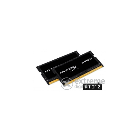 Kingston (HX318LS11IBK2/16) HyperX Impact Black 16GB (2x8GB) DDR3L notebook memorija